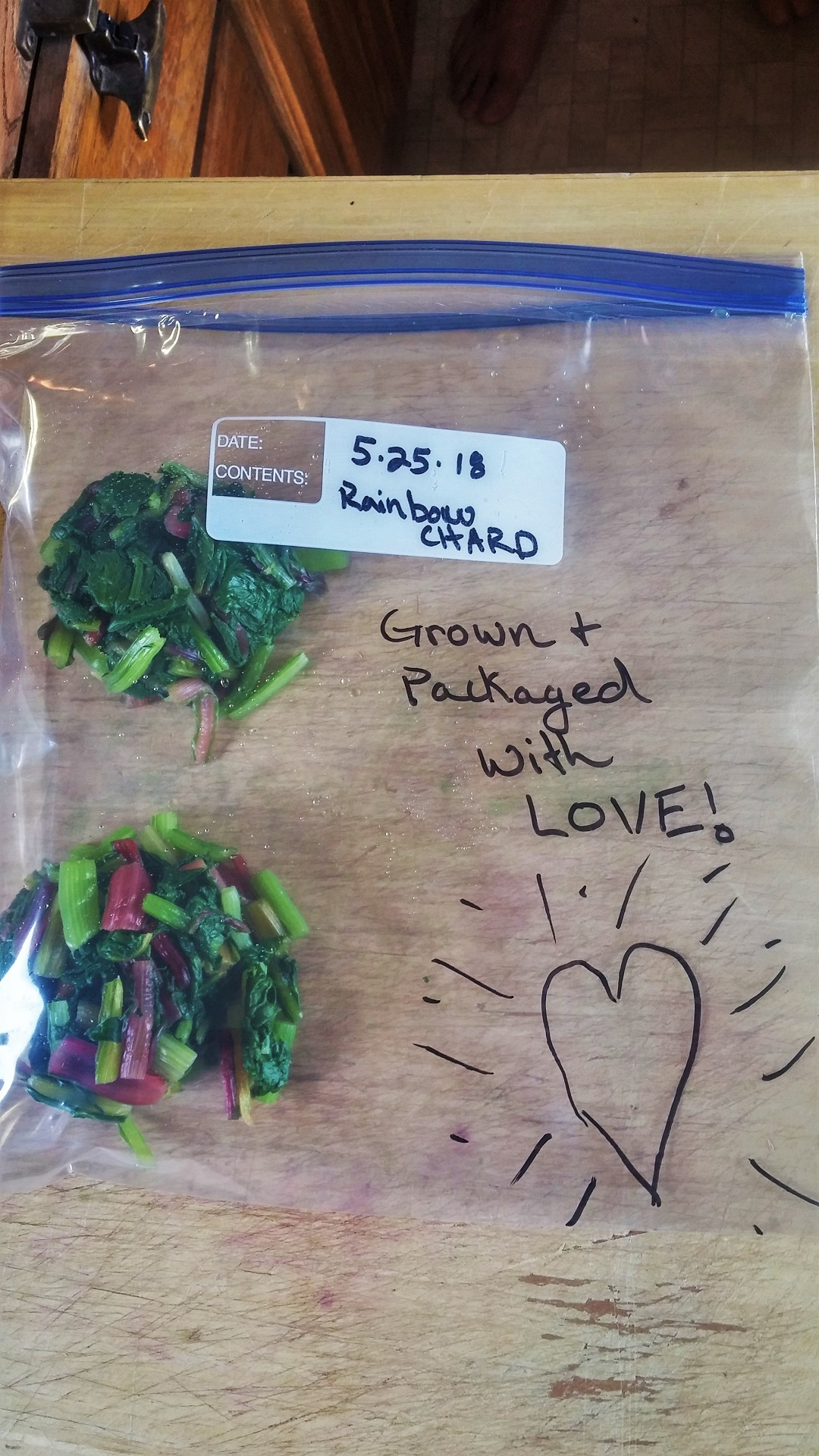 Chard Packaged with Love